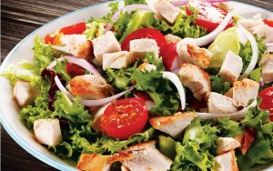 Marcangelo product - chicken cubes with salad